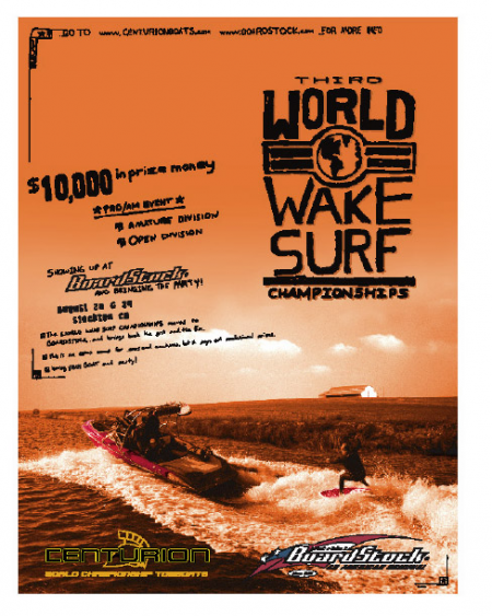 World Wake Surf Championships Poster 2004